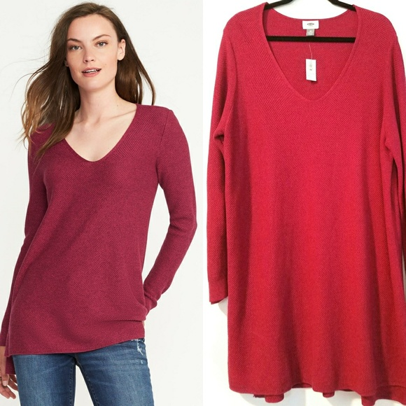 4910540a63580 3X Old Navy Plus Size Textured V-Neck Tunic
